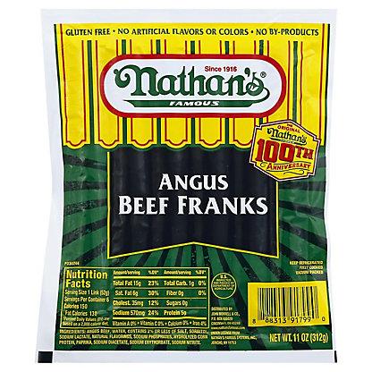 Nathan's Angus Beef Franks,11 OZ