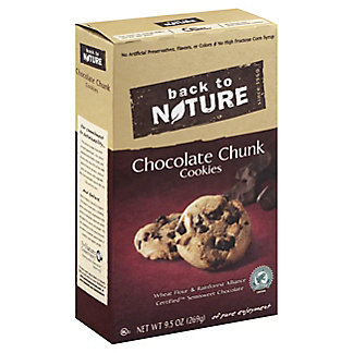 Back to Nature Chocolate Chunk Cookies, 9.5 oz