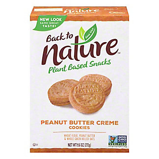 Back To Nature Peanut Butter Creme Sandwich Cookies,9.6 OZ