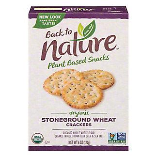 Back To Nature Stoneground Wheat Crackers,6 OZ