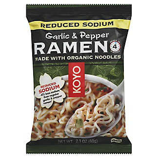 Koyo Reduced Sodium Garlic Pepper Ramen,2OZ