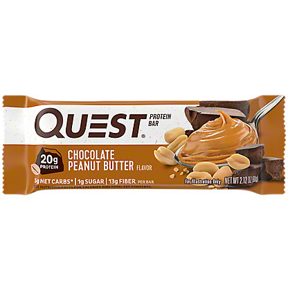 Quest Bar Chocolate Peanut Butter Bar,2.12 OZ
