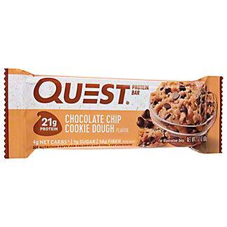 Quest Bar Chocolate Chip Cookie Dough Bar,2.12 OZ