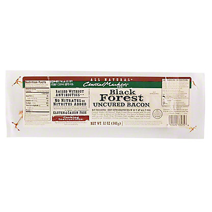 Central Market Natural Black Forest Bacon, 12 oz