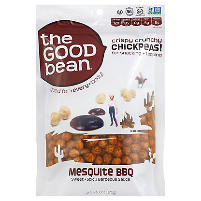 The Good Bean Mesquite BBQ Chickpea Snack,6 OZ