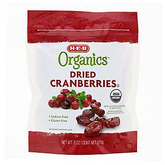 H-E-B Organics Dried Cranberries, 6 oz