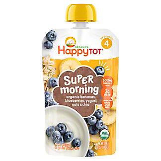 Happy Tot Super Morning Meals Bananas, Blueberries, Yogurt & Oats,4 oz