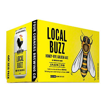 Four Corners Local Buzz Honey-Rye Golden Ale, 12oz bottles,6 CT