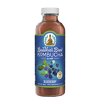 Buddha's Brew Blueberry Kombucha, 16 oz