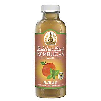 Buddhas Brew Kombucha Peach Mint,16 oz