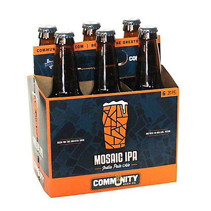 Community Beer Mosaic Indian Pale Ale 6 PK Bottles, 12 oz