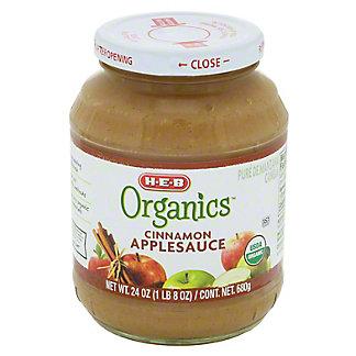 H-E-B Organics Cinnamon Applesauce Jar, 24 oz