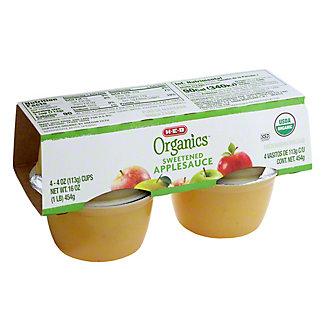 H-E-B Organics Original Applesauce Cups, 4 ct