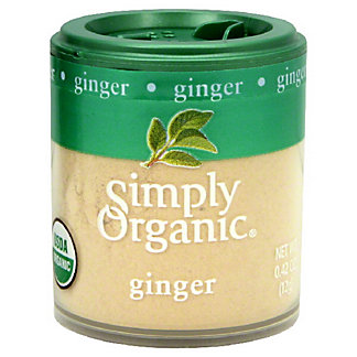 Simply Organic Ginger Root Ground, 0.42OZ