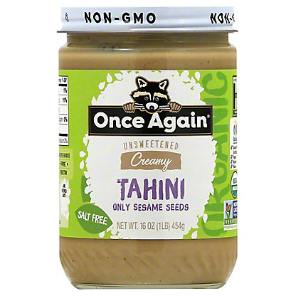 Once Again Organic Tahini Nut Butter,16OZ