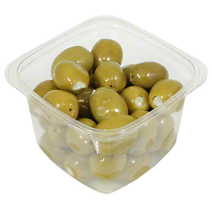 Mt. Athos Green Olives Stuffed with Blue Cheese In Oil, Sold by the pound