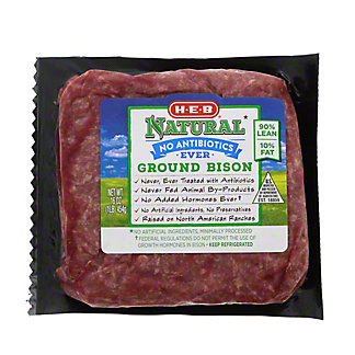 H-E-B Natural Ground Bison, 16 oz