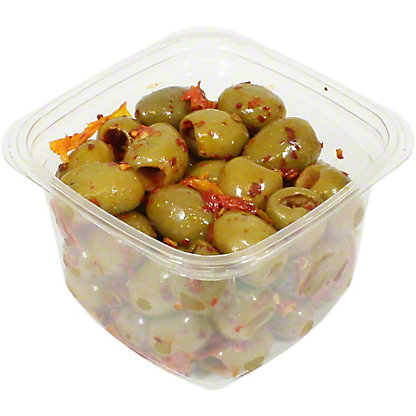 Lamedina Ascolana Olives With Peruvian Chilies, Pitted, Sold by the pound