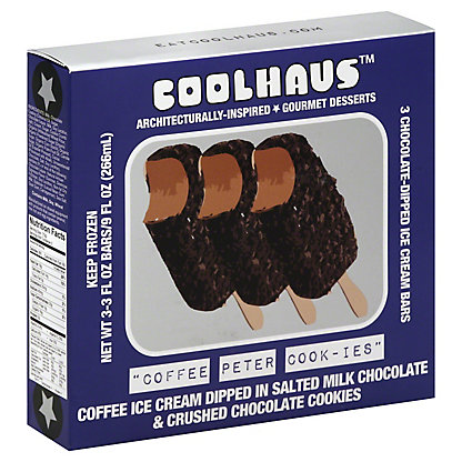 CoolHaus Coffee Peter Cook-ie Ice Cream Bars, 3 ct