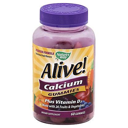 Alive Natures Way Alive Calcium Gummies, 60 ct
