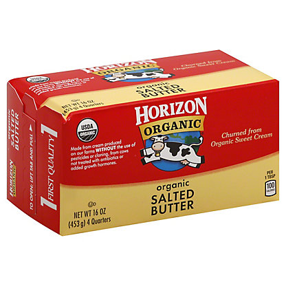 Horizon Organic Salted Butter Quarters, 16 oz