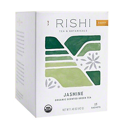 RISHI Jasmine Green Tea Bags,15 CT