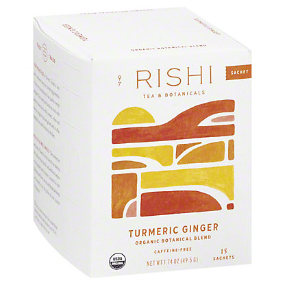Rishi Rishi Turmeric Ginger Herbal Tea Bags, 15 ea
