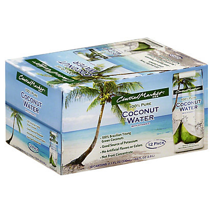 Central Market Coconut Water, 12 - 11 oz pk