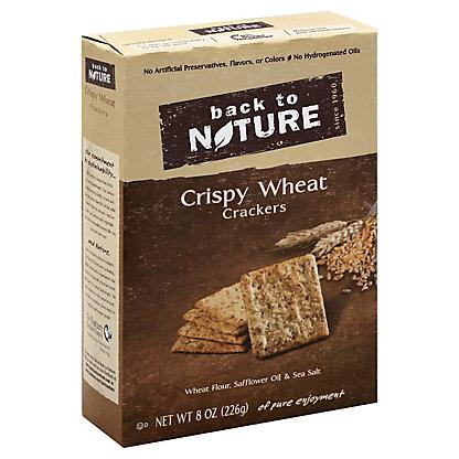 Back to Nature Crispy Wheat Crackers, 8OZ