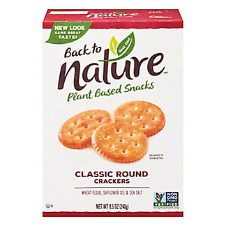 Back to Nature Back to Nature Classic Round Crackers, 8.50 oz
