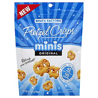 Snack Factory Original Minis Pretzel Crisps, 6.2 oz