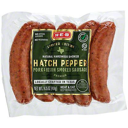 H-E-B Pork & Bison Hatch Chile Smoked Sausage, 11.4 oz