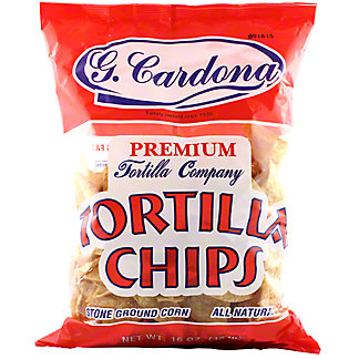 G Cardona Premium All Natural Tortilla Chips, 16OZ