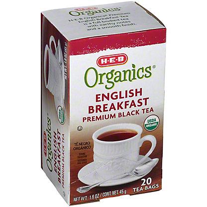 H-E-B Organics English Breakfast Tea,20.00 ea