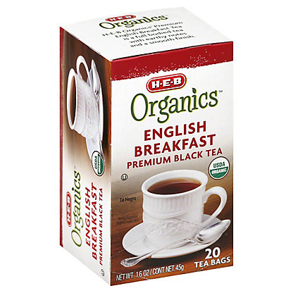 H-E-B Organics English Breakfast Tea,20.00 ea