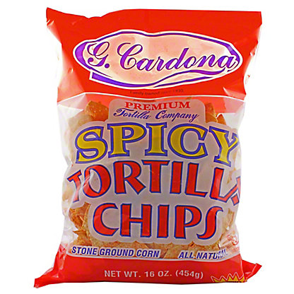 G Cardona Premium All Natural Spicy Tortilla Chips,16OZ