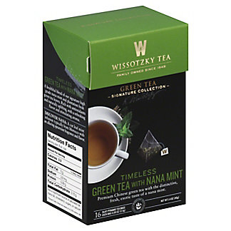 Wissotzky Tea Timeless Green Tea With Nana Mint, 16 CT