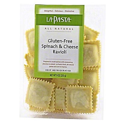 La Pasta Gluten Free Spinach & Cheese Ravioli, 9 OZ ...