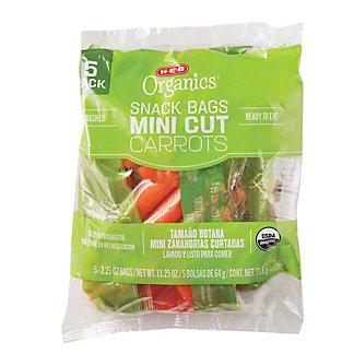 H-E-B Organics Carrot Snack Bags,4 PK