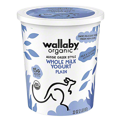 Wallaby Organic Greek Plain Yogurt, 32 oz
