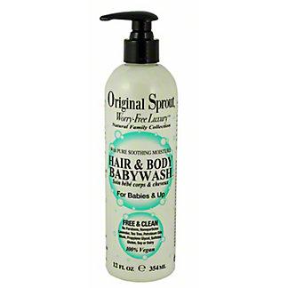 ORIGINAL SPROUT Hair Body Babywash, 12 OZ