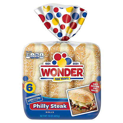 Cobblestone Bread Co. Philly Steak Rolls, 15 oz
