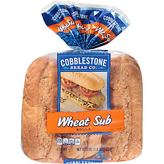 Cobblestone Bread Co. Wheat Grinder Sub Rolls, 6 ct