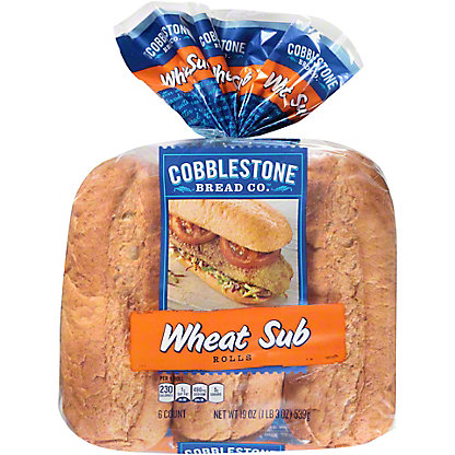 Cobblestone Bread Co. Wheat Grinder Sub Rolls, 6 ct