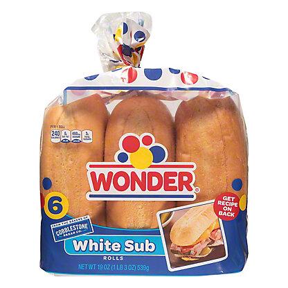 Cobblestone Bread Co. White Grinder Sub Rolls, 6 ct