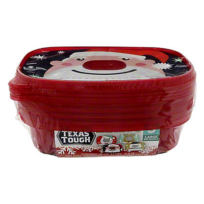 H-E-B Large Dish Colored Rectangle Container, 5 ct