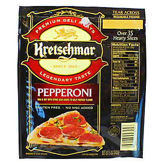 Kretschmar Presliced Hard Salami,5 OZ