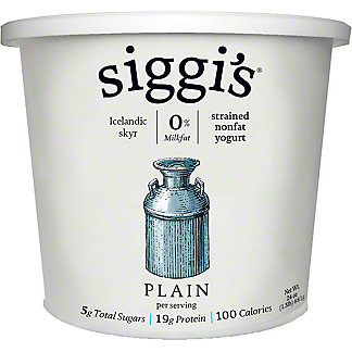 Siggi's Plain Non Fat Yogurt,24 OZ
