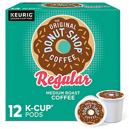 Donut Shop Regular Medium Roast Single Serve Coffee K Cups, 12 ct