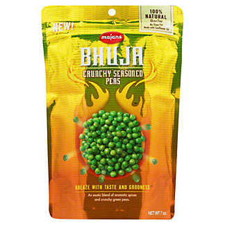 Majans Bhuja Bhuja Snacks Crunchy Seasoned Peas,7.00 oz
